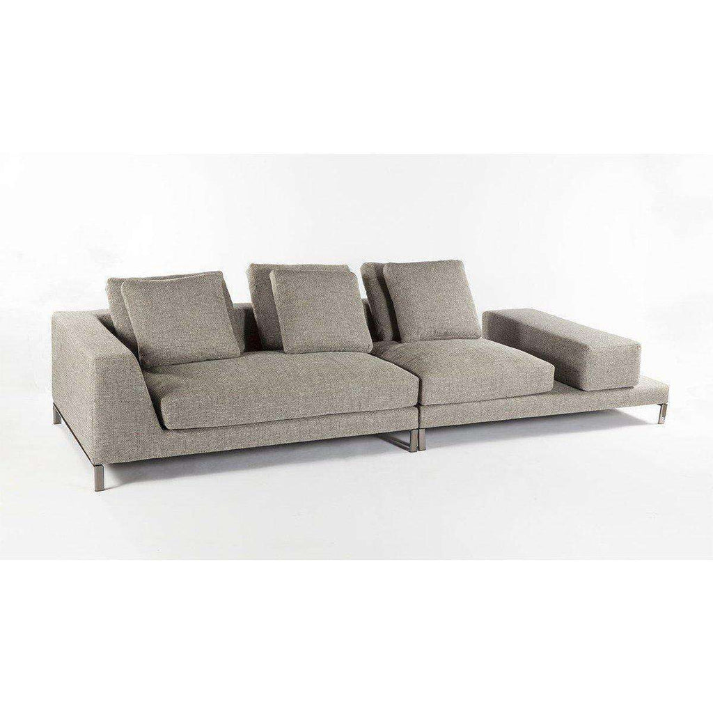 Modern Ernest Sectional Sofa - Grey