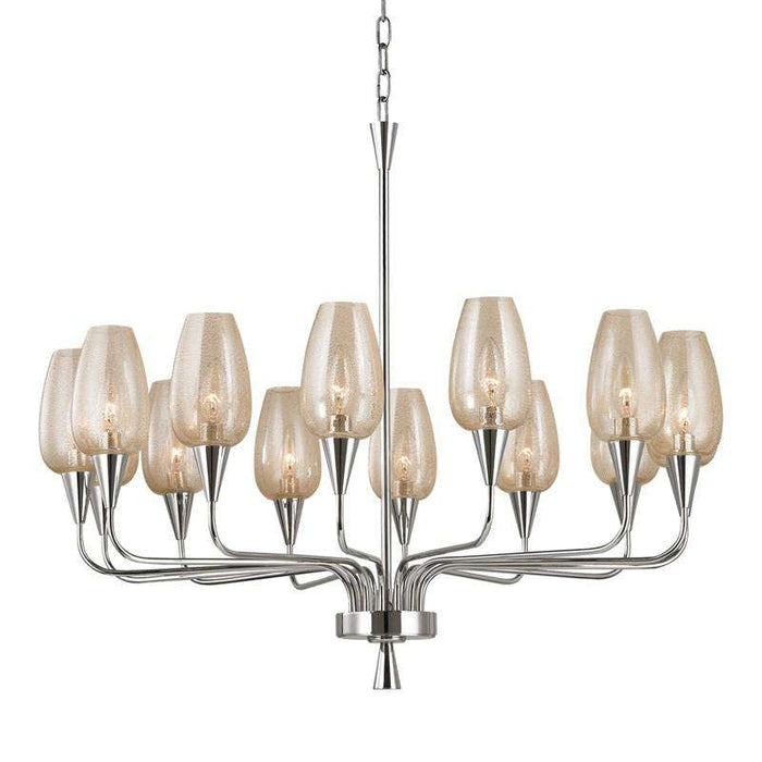 Longmont 14 Light Chandelier Polished Nickel
