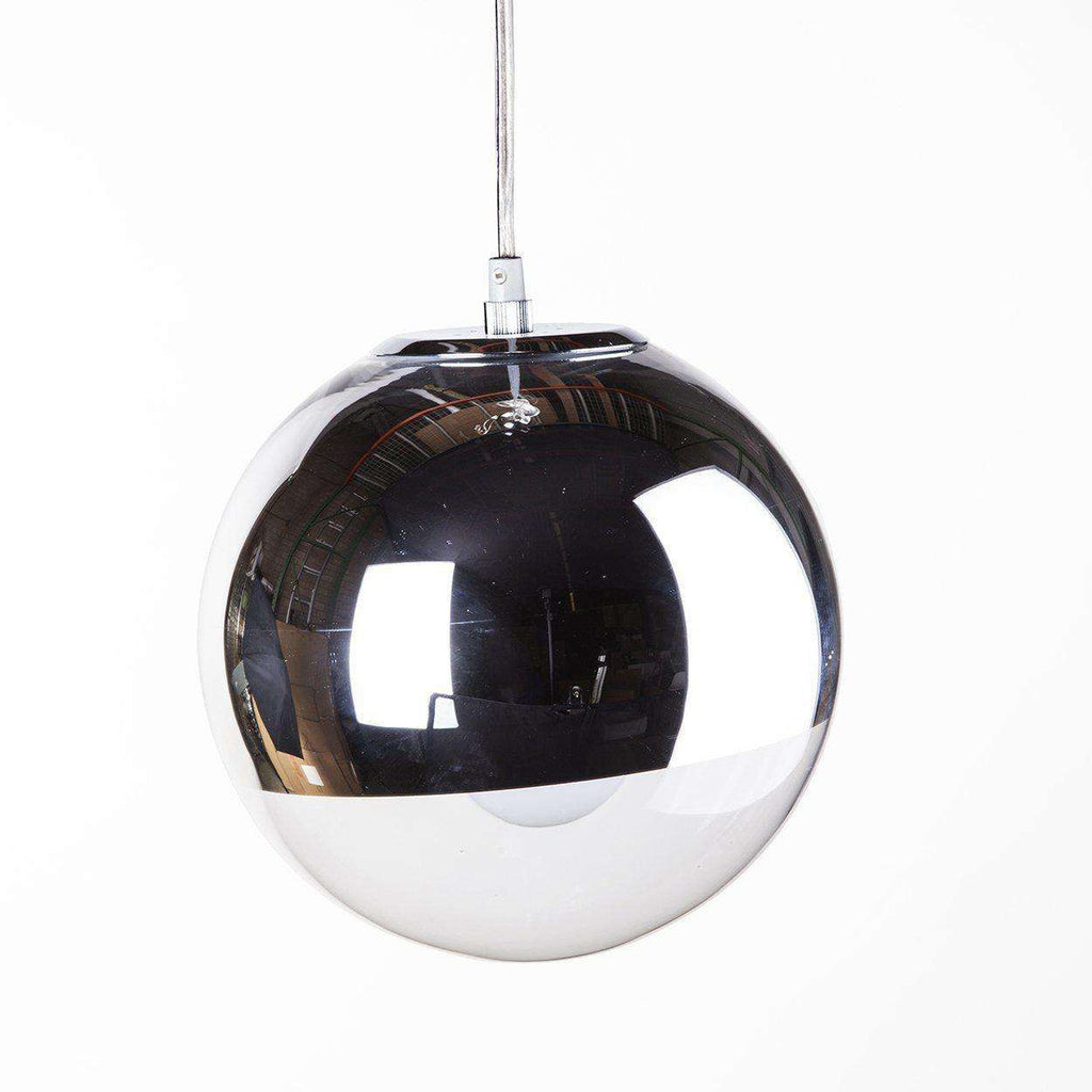 Mid Century Modern Reproduction Mirror Ball Pendant Light