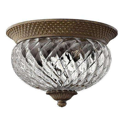 Bath Plantation Flush Mount Pearl Bronze