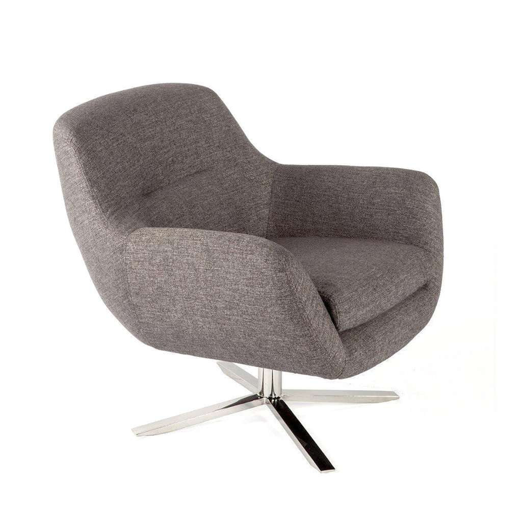 Modern Arvid Lounge Chair - Brown