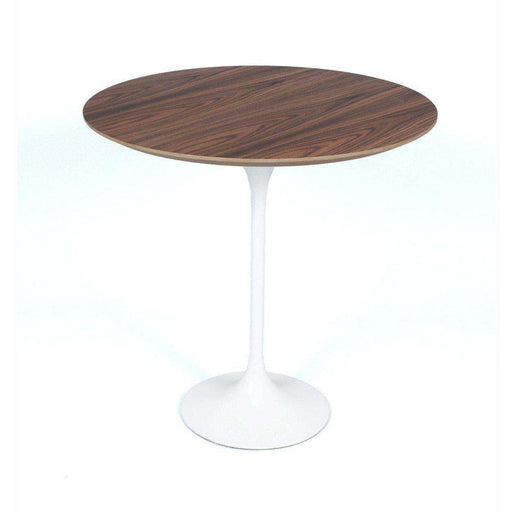 Mid-Century Modern Reproduction Tulip Side Table - Walnut Top Inspired by Eero Saarinen