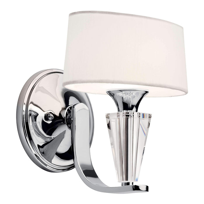 Crystal Persuasion Wall Sconce 1 Light - Chrome