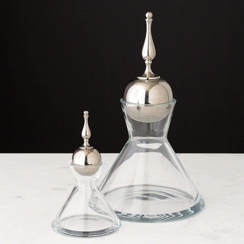Finial Decanter - Nickel - Small