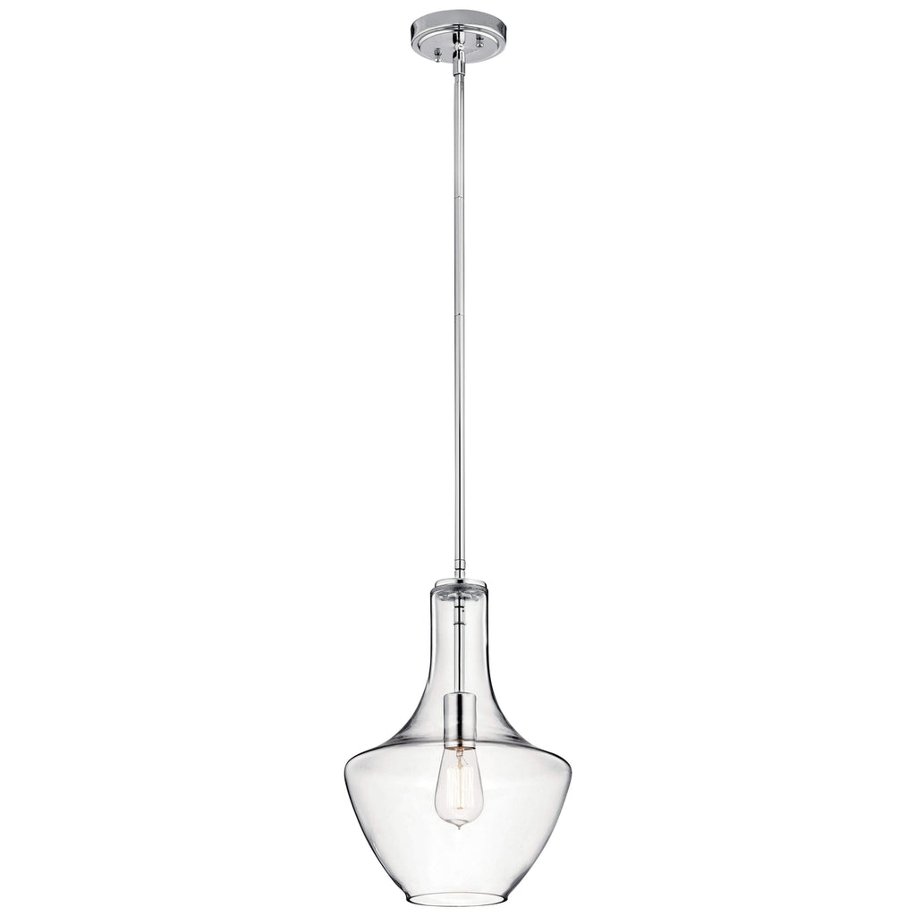 Everly Pendant 1 Light - Chrome