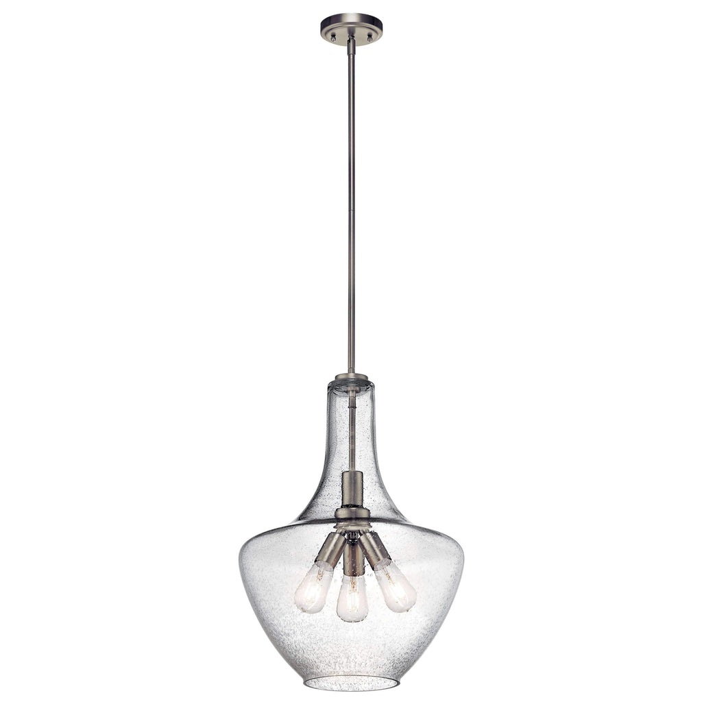 Everly Pendant 3 Light - Brushed Nickel