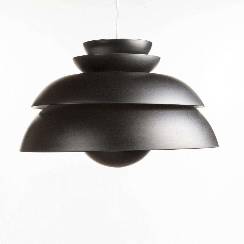 Mid-Century Modern Reproduction Concert P1 Pendant Light - Black Inspired by Jorn Utzon