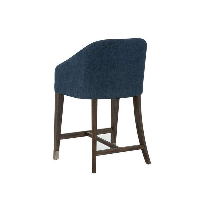 NELLIE COUNTER STOOL - ARENA NAVY FABRIC