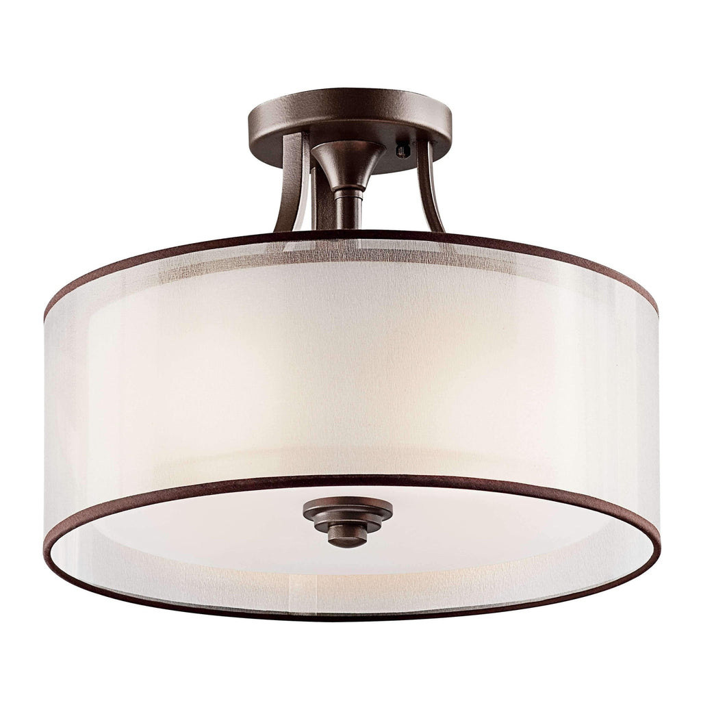 Lacey Semi Flush 3 Light - Mission Bronze
