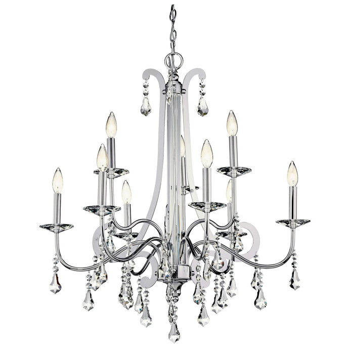 Leanora Chandelier 9 Light - Chrome