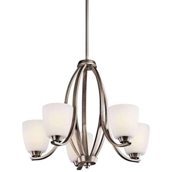 Granby Chandelier 5 Light - Brushed Pewter