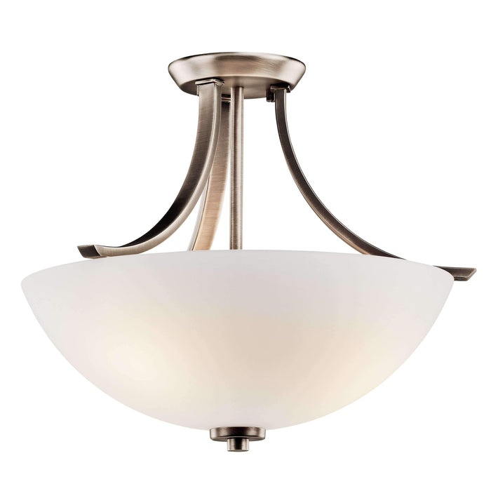 Granby Semi Flush 3 Light - Brushed Pewter
