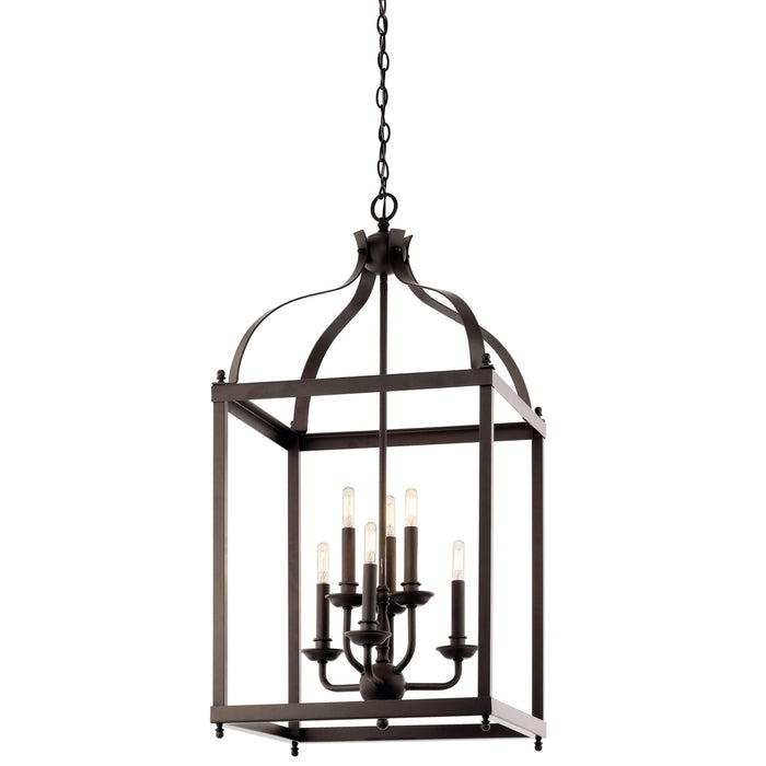 Larkin Foyer Chandelier 6 Light - Olde Bronze