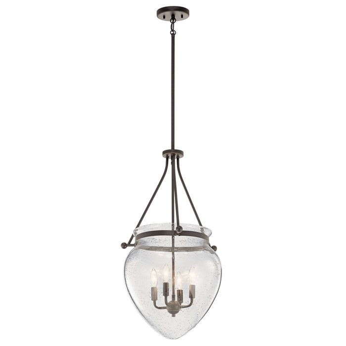 Belle Foyer Pendant 4 Light - Olde Bronze