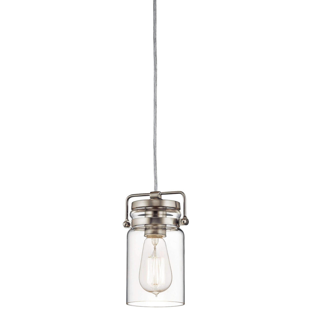 Brinley Mini Pendant 1 Light - Brushed Nickel