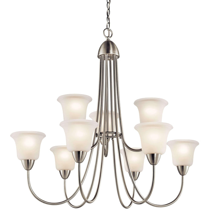 Nicholson Chandelier 9 Light - Brushed Nickel