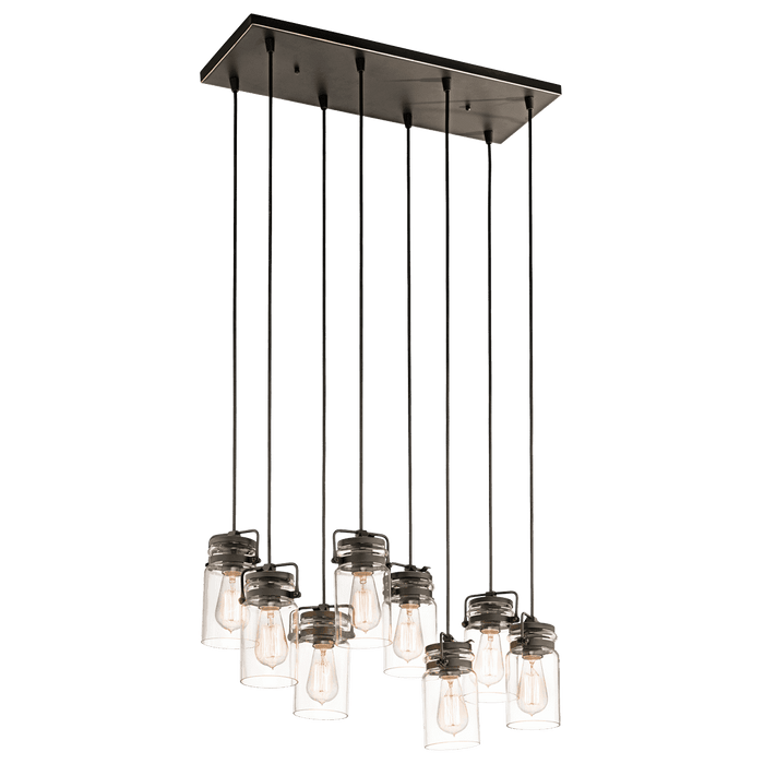 Brinley Linear Chandelier 8 Light - Olde Bronze
