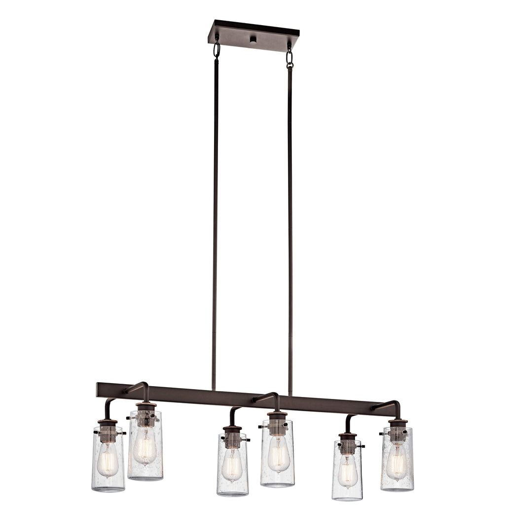 Braelyn Linear Chandelier 6 Light - Olde Bronze