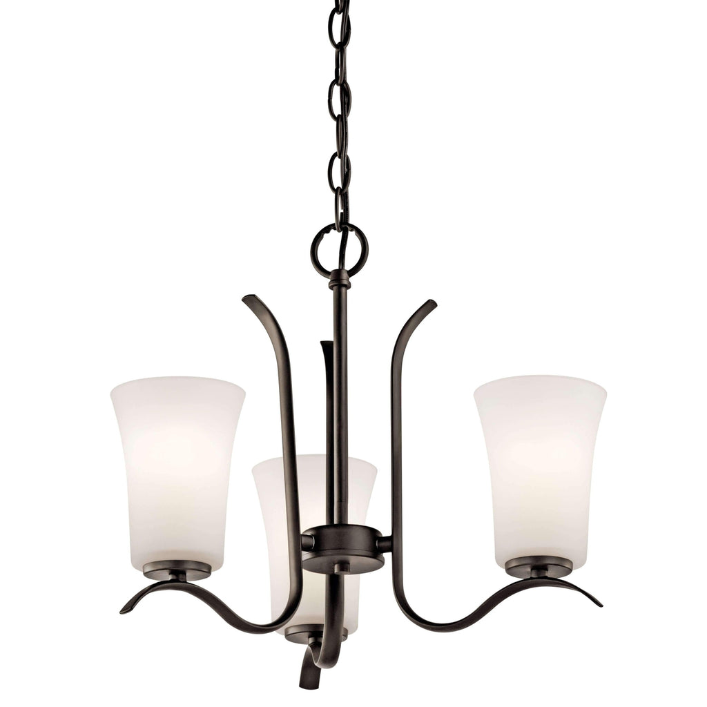 Armida Mini Chandelier 3 Light - Olde Bronze