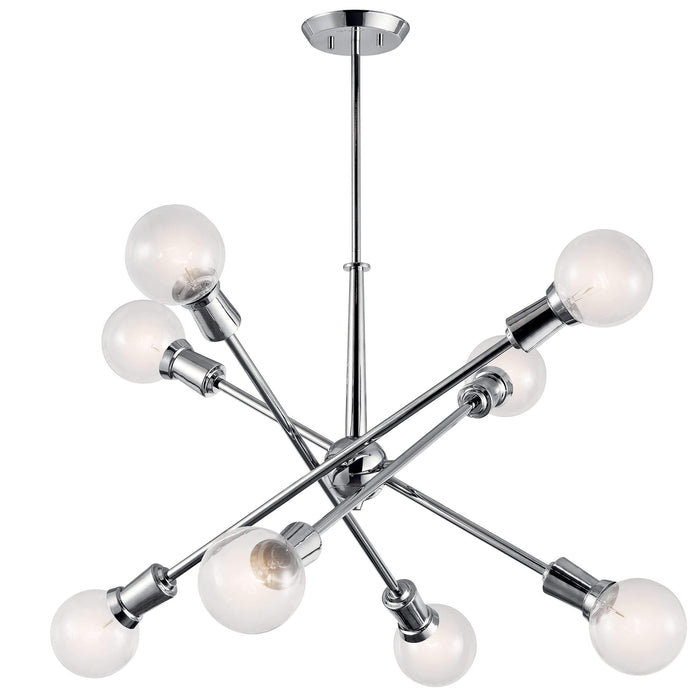 Armstrong Chandelier 8 Light - Chrome