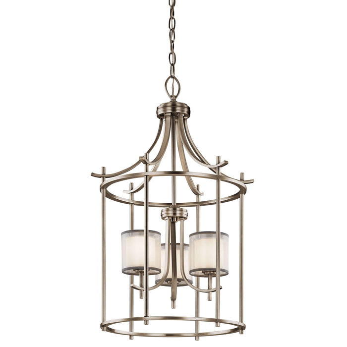 Tallie Large Foyer Pendant 3 Light - Antique Pewter