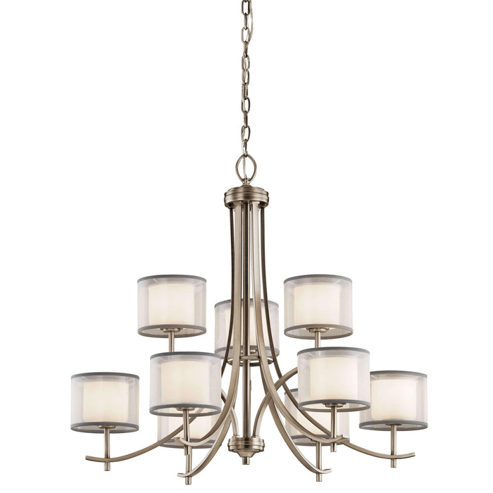 Tallie Chandelier 9 Light - Antique Pewter