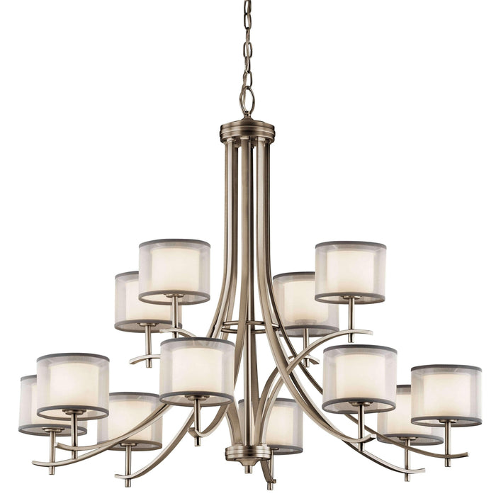 Tallie Chandelier 12 Light - Antique Pewter