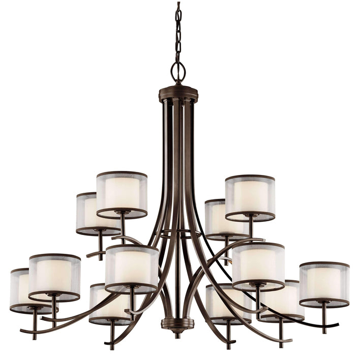 Tallie Chandelier 12 Light - Mission Bronze