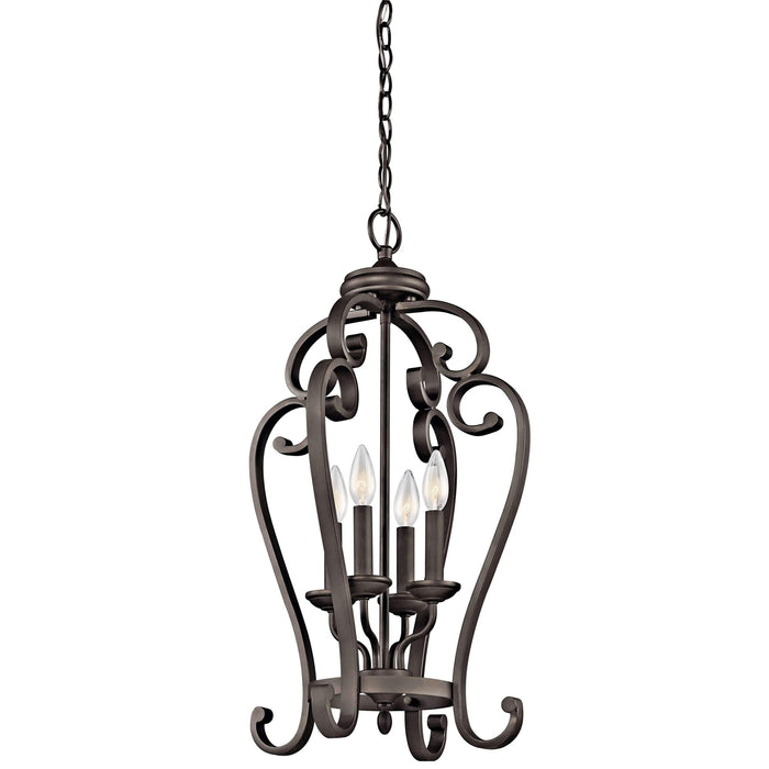 Monroe Large Foyer Pendant 4 Light - Olde Bronze