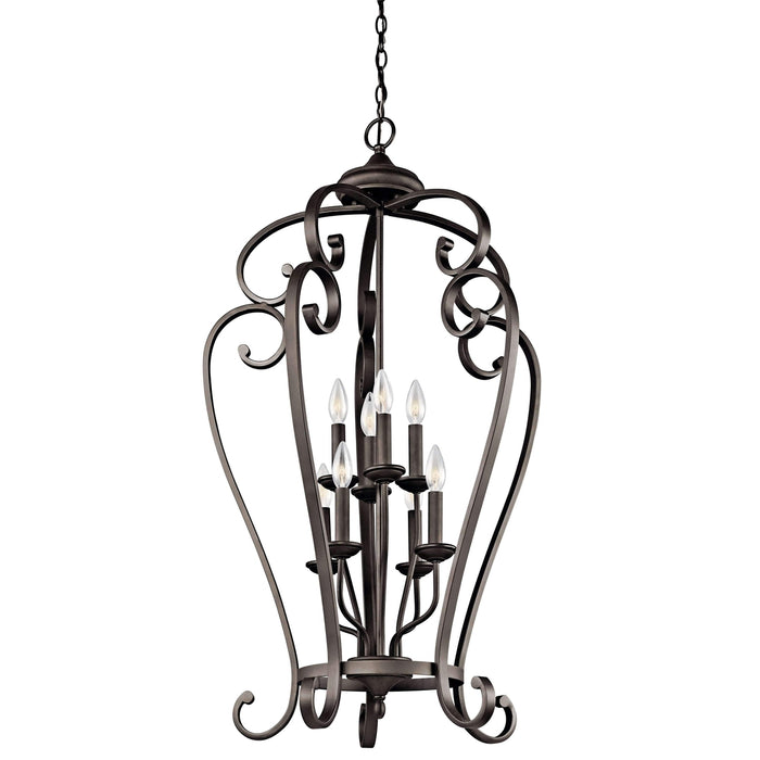 Monroe Foyer Chandelier 8 Light - Olde Bronze