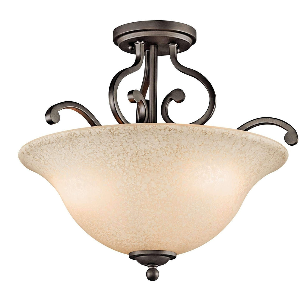 Camerena Semi Flush 3 Light - Olde Bronze
