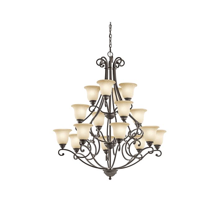 Camerena Chandelier 16 Light - Olde Bronze
