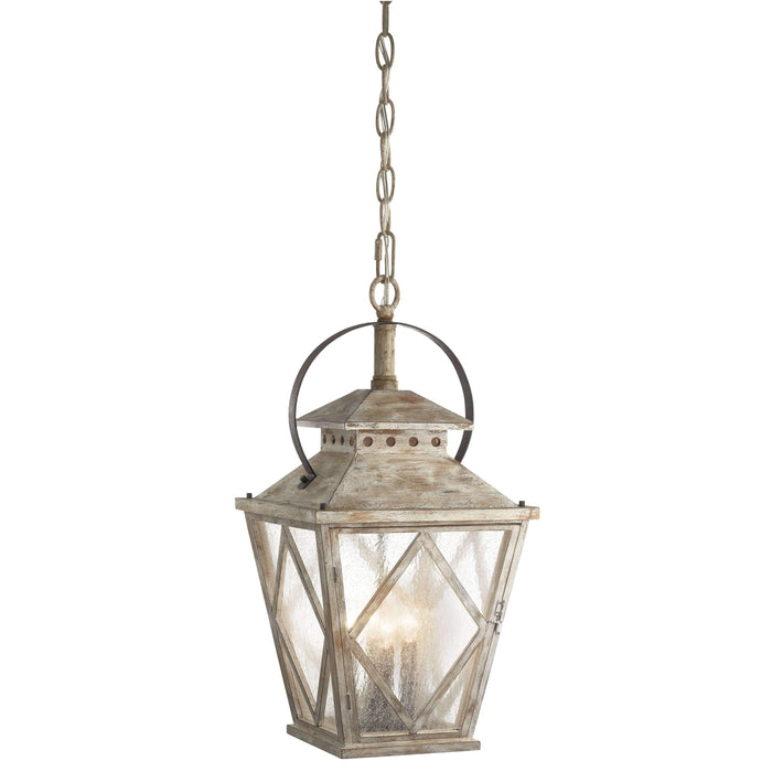 Hayman Bay Indoor Pendant 4 Light - Distressed Antique White