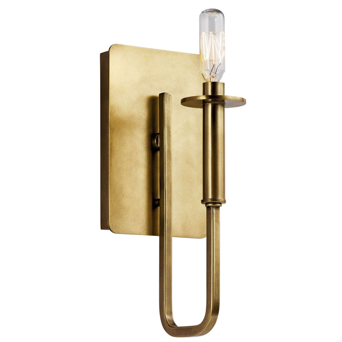 Alden Wall Sconce 1 Light - Natural Brass