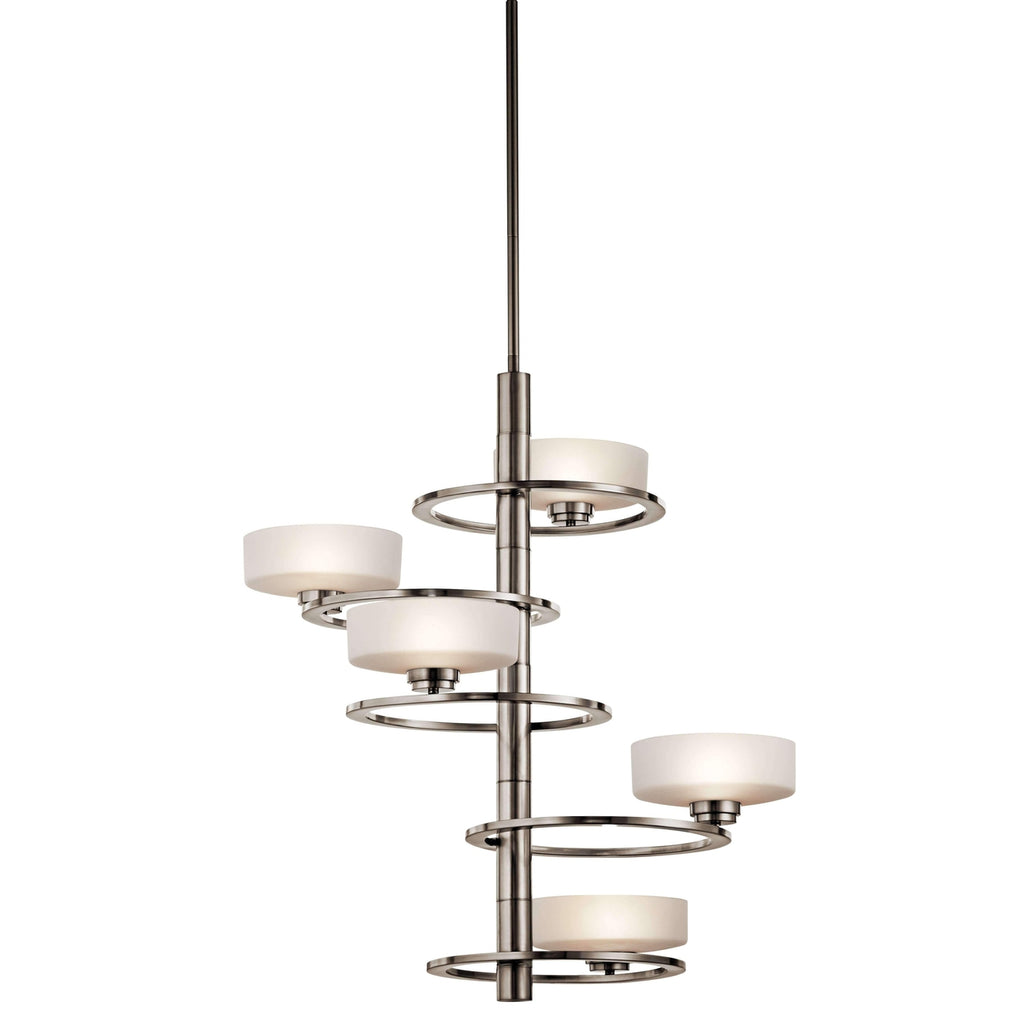 Aleeka Foyer Chandelier 5 Light Halogen - Classic Pewter