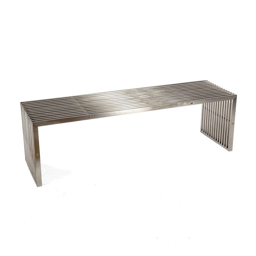 Contemporary Delano Grid Bench