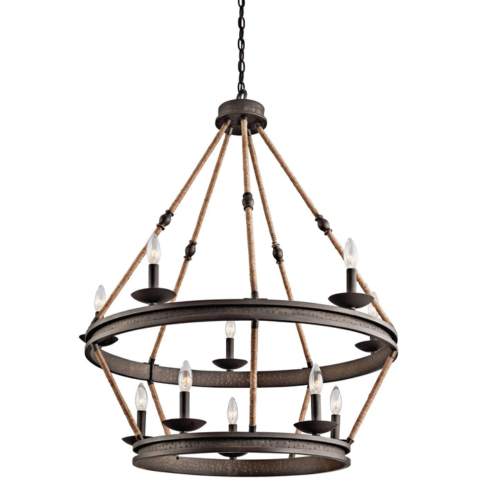 Kearn Chandelier 10 Light - Olde Bronze