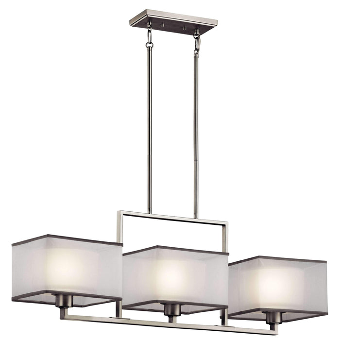 Kailey Linear Chandelier 3 Light - Brushed Nickel