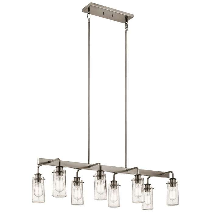 Braelyn Linear Chandelier 8 Light - Classic Pewter
