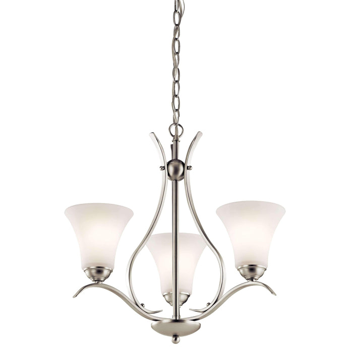 Keiran Chandelier 3 Light - Brushed Nickel