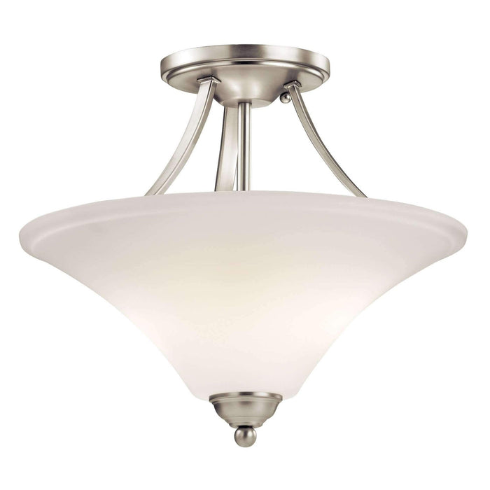 Keiran Semi Flush 2 Light - Brushed Nickel