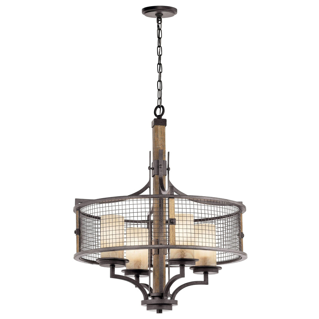Ahrendale Chandelier 4 Light - Anvil Iron
