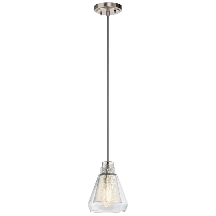 Evie Mini Pendant 1 Light - Brushed Nickel