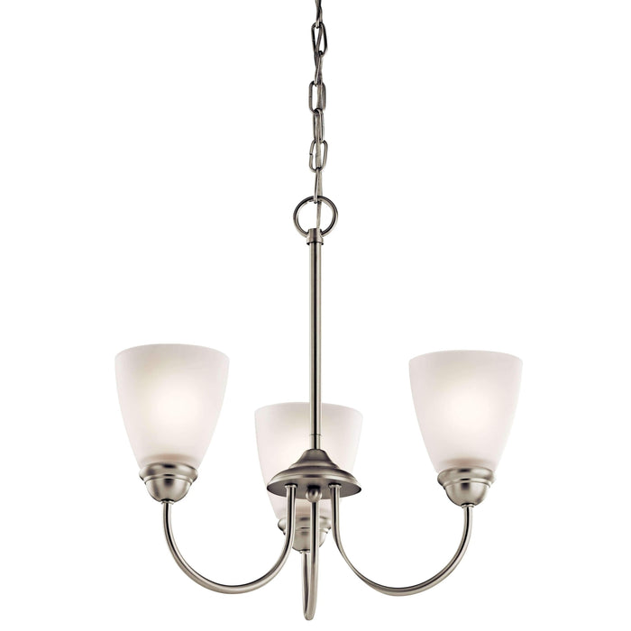 Jolie Mini Chandelier 3 Light - Brushed Nickel