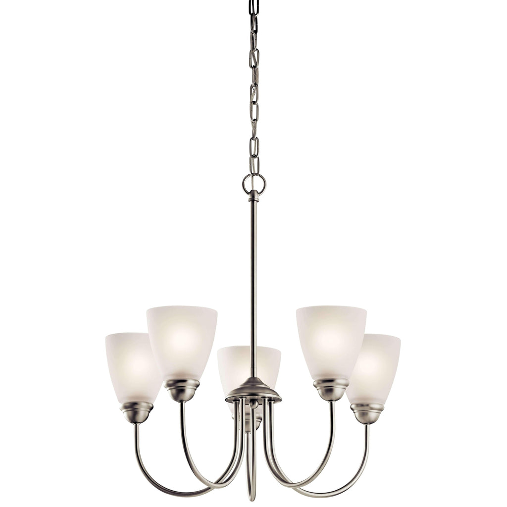 Jolie Chandelier 5 Light - Brushed Nickel
