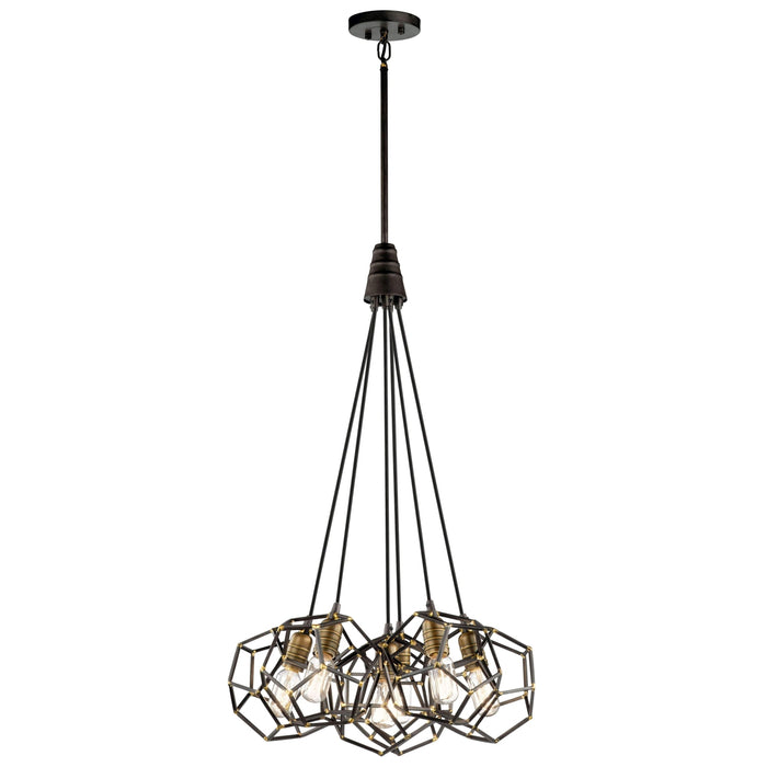Rocklyn Pendant 6 Light - Raw Steel