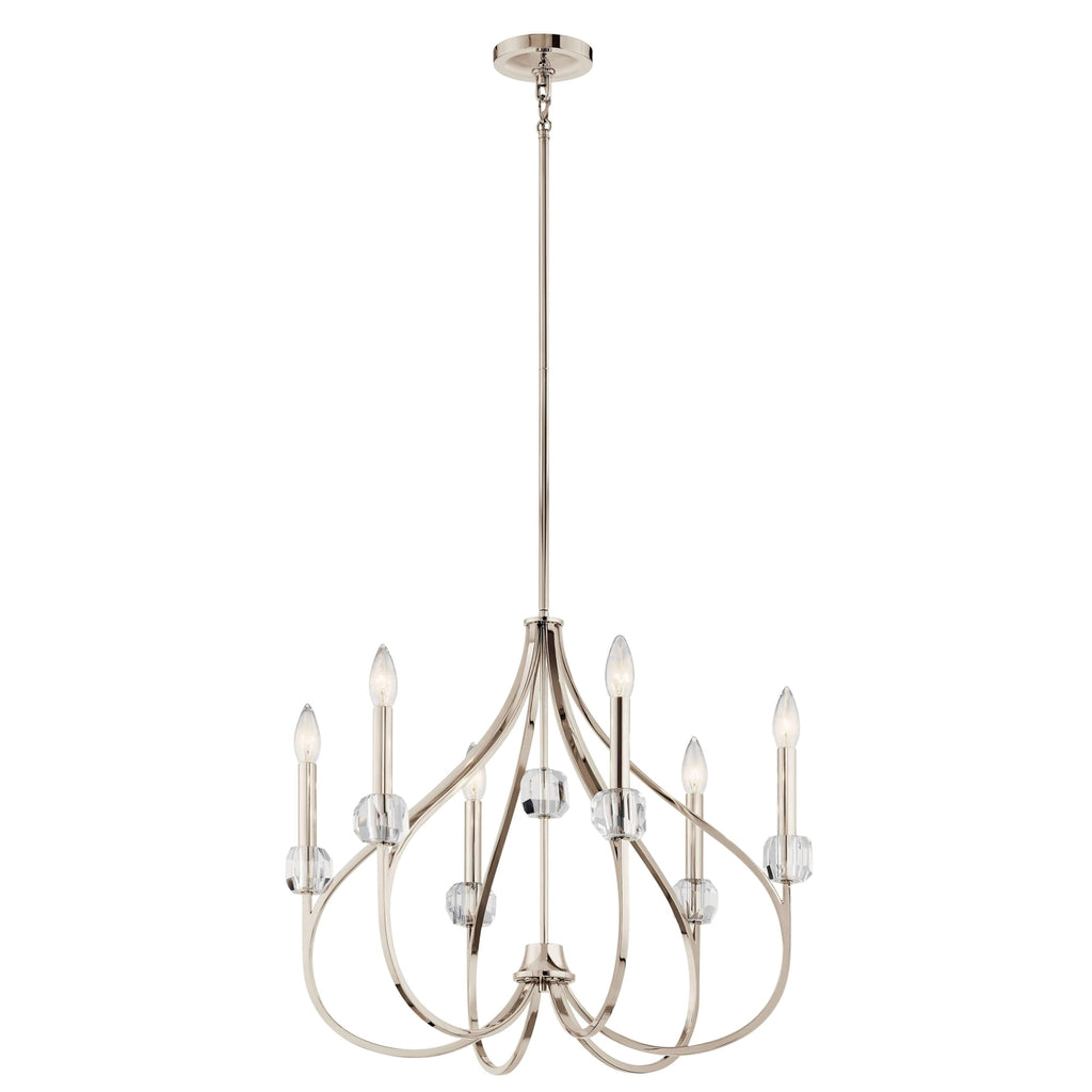 Eloise Chandelier 6 Light - Polished Nickel
