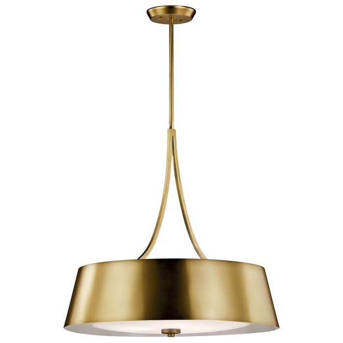 Maclain Chandelier/Pendant 4 Light - Natural Brass