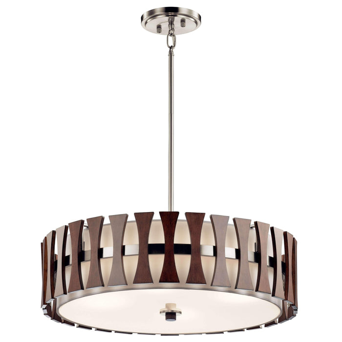 Cirus Pendant/Semi Flush 4 Light - Auburn Stained Finish