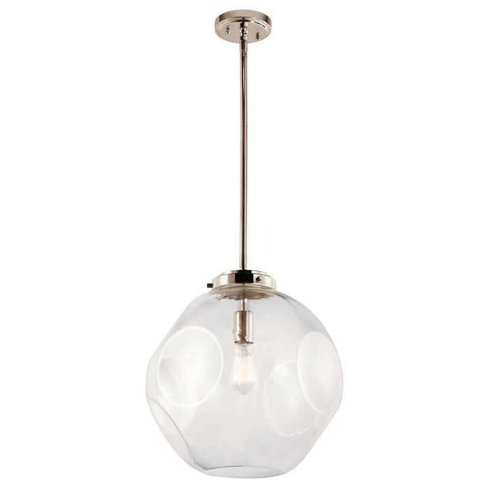 Ellis Pendant 1 Light - Polished Nickel *quickship*